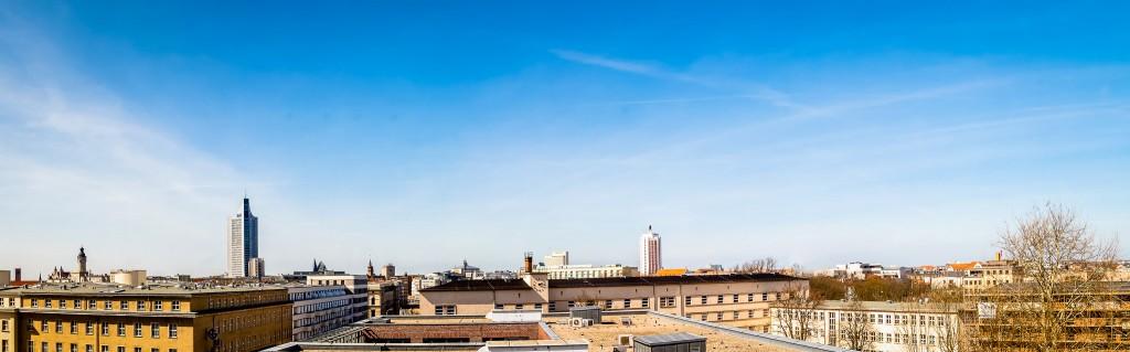 Panorama vom Dach unserer Ausstellungsräume in Leipzig